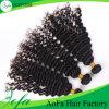 最上質のインドの人間の毛髪のかつら、バージンのRemyの毛のよこ糸