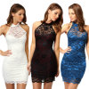 Платье шнурка нового Halter Sleevelesss конструкции Backless сексуальное (50160)