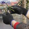 Перчатки агрегата PU Nmsafety черные покрытые светлые