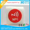 Impressão da etiqueta do ISO 15693 13.56MHz NFC das amostras livres