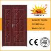 MDF Board Door do PVC Wooden um e de Half Leaf (SC-P152)