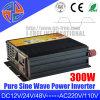 300W 12V 24V 48V DC 110V AC 220V inversor de onda sinusoidal pura potencia con cargador