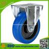 Industrielle Fußrolle mit blauen elastischen Gummirädern