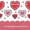 servilletas de vector de papel de los corazones del amor de los 25*25cm