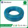 Tuyau de jardin tressé de biens de fibre superbe bleue de PVC