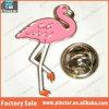 Divisa por encargo del Pin de lazo del sombrero de la solapa del flamenco del color de rosa del esmalte de la alta calidad de Pinstar