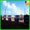 Exposições duráveis do vinil do engranzamento do anúncio ao ar livre da bandeira da cerca