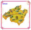 OEM Polyresin Map Fridge Magnet con Memo Holder