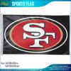 Флаг x5 логоса 3 футбольной команды Сан-Франциско 49ers NFL полиэфира '