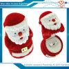 Rectángulo de joyería hecho a mano al por mayor del embalaje del anillo de Papá Noel del terciopelo