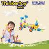 Plastikpuzzlespiel-Spiel der Kinder, intellektuelles Gebäude-Ziegelstein-Spielzeug