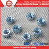 High Strength Steel 3/8 Blue White Zinc-Plated K Nut
