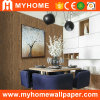 Papel de parede Textured de madeira decorativo interior do PVC