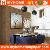 Papel pintado Textured de madera decorativo interior del PVC