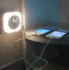 Двойной свет USB с светильником ночи стены обязанности таблетки СИД