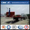 Cimc Huajun 40FT Flatbed Tipping Trailer mit Hydraulic Cylinder
