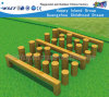Equipamento ao ar livre Hf-17702 do campo de jogos da pilha da madeira da aptidão da ginástica
