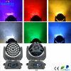 Lavagem principal movente do zoom do diodo emissor de luz da luz do diodo emissor de luz 36PCS 10W RGBW