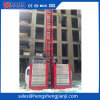 gaiola do dobro do elevador da grua do elevador da construção 2t por Hsjj