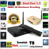 Quadrato Core TV Box T8 Android4.4 Kitkat TV Box con Amlogics802 e Xbmc13.2, 2GB RAM e 8GB NAND Flash