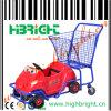Carro de compra plástico do supermercado de Metel dos miúdos para crianças