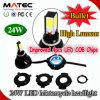 Luz del punto del LED para la linterna entera de la motocicleta LED de la venta 18W-25W 2400lm 6000k de la motocicleta