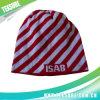 Gestreifter bunter moderner Beanie gestrickt/Knit-Hut/Schutzkappen (023)