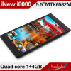 ROM 4GB Cellular Phone (iNew I8000) di Mtk6582 5.5inch Quad Core RAM 1GB