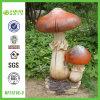 Nouvel ornement de champignon de couche de jardin de Polyresin d'arrivée (NF11216-3)