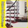 Escadaria do aço inoxidável com corrimão