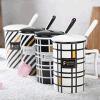 Tazza di ceramica con la tazza di caffè lustrata stampa del gres di marchio del cucchiaio