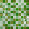 Mattonelle di mosaico fresche verdi di Pastoralism per la stanza da bagno e la piscina