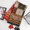 Cadeau estampé de cap national Sun-Protecteur de châle d'écharpe beau pour des femmes