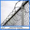 Frontière de sécurité utilisée galvanisée plongée chaude de maillon de chaîne de treillis métallique de diamant de qualité