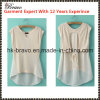 2015 Style europeo y americano Fashional Ladies Round Neck Sleeveless T-Shirt (SK649)