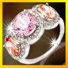 نمط [سمي-برسووس] حجارة فضة حلقة مجوهرات