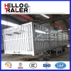 Fabriek 3 Axle Fence Trailer met Zijgevel en Stage