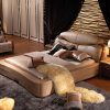 고품질 고전적인 가죽 침대 디자인 (A156)