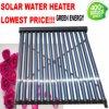 Coletor solar pressurizado do calefator de água da tubulação de calor, calefator de água solar de alta pressão/coletor térmico solar