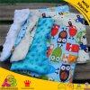 Cotton modelado Fabric con Minky DOT Baby Pillow Cover