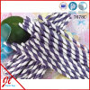 Paja púrpura del embalaje del papel de la raya, paja de papel del partido de la paja