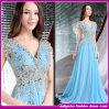 2015新式のSet Auger Bud Silk V-Neck Blue Party DressesかProm Dresses (C-208)