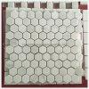 Mosaico de piedra de mármol chino blanco