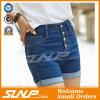 Джинсыы краткостей кнопок джинсовой ткани девушок миниые