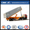 Cimc Huajun 45FT 3axle Rear Tipping Flatbed Container Semi Trailer