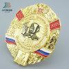 La policía rusa de encargo del metal del Pin de la solapa del esmalte de la insignia de la seguridad Badge para el regalo del recuerdo