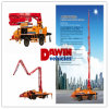 21m 25m Trailer Mounted Concrete Boom Pump Without Chassis