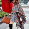 Обруча шали проверок шотландки шарф женщин шерстей кашемира твердого мягкий
