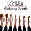 kylie nam de Ovale Borstel van de Make-up de Gouden Kosmetische Hulpmiddelen van de Make-up van 10 stukken toe