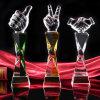 ビジネスギフト(KS64022)としてThumbtrophy高いガラス水晶賞